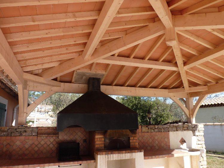 cuisine d'été - barbecue intégré
